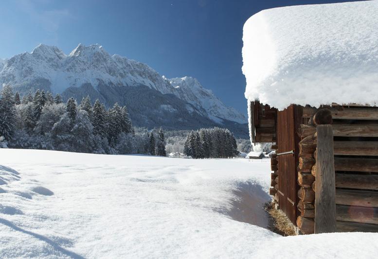 Grainau im winter for Goldfischteich im winter